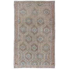 All-Over Vintage Turkish Kilim Flat-Weave Rug