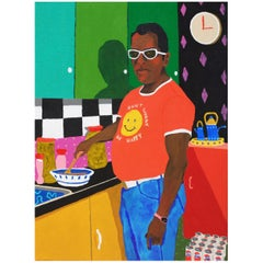 'All The Right Ingredients' Portrait Painting by Alan Fears Pop Art
