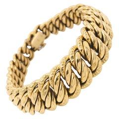 All Yellow Gold Bracelet 18 Carat American Mesh, circa 1980s
