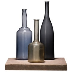 Alla Morandi set of 3 by Venini in Wisteria, Sand, and Grape (limited Edition)