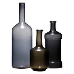 Alla Morandi set of 3 by Venini in Wisteria, Sand, and Grape (limited Edition)