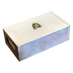 Allan Adler Sterling Silver Match or Trinket Box, 20th Century