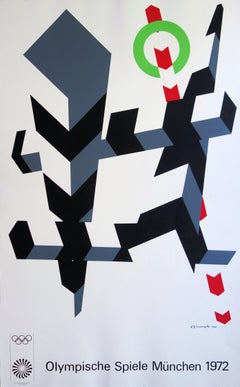 Abstract Cinetic Composition - Screenprint (Olympic Games Munich 1972)