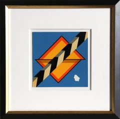 Geometrical Pop Art Silkscreen by Allan D'Arcangelo