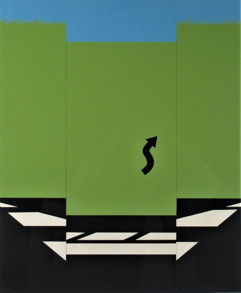 Landscape 1 from 11 Pop Artists Series - Print by Allan D'Arcangelo