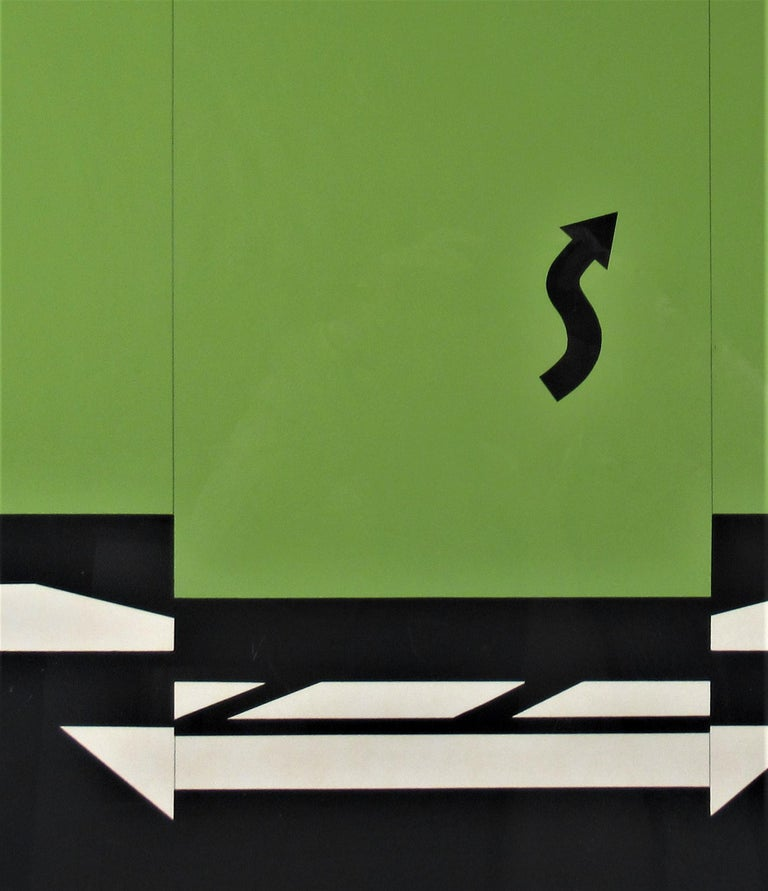 Landscape 1 from 11 Pop Artists Series - Gray Abstract Print by Allan D'Arcangelo