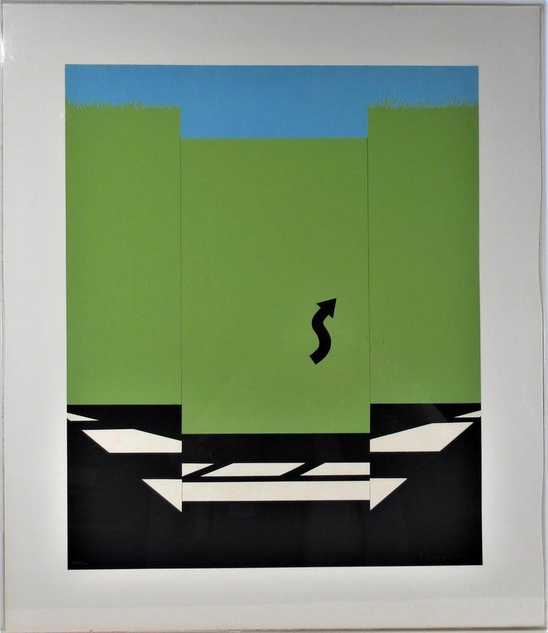 Allan D'Arcangelo Abstract Print - Landscape 1 from 11 Pop Artists Series