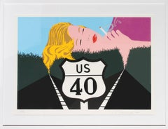 Smoke Dreams, Pop Art Serigraph by Allan D'Arcangelo