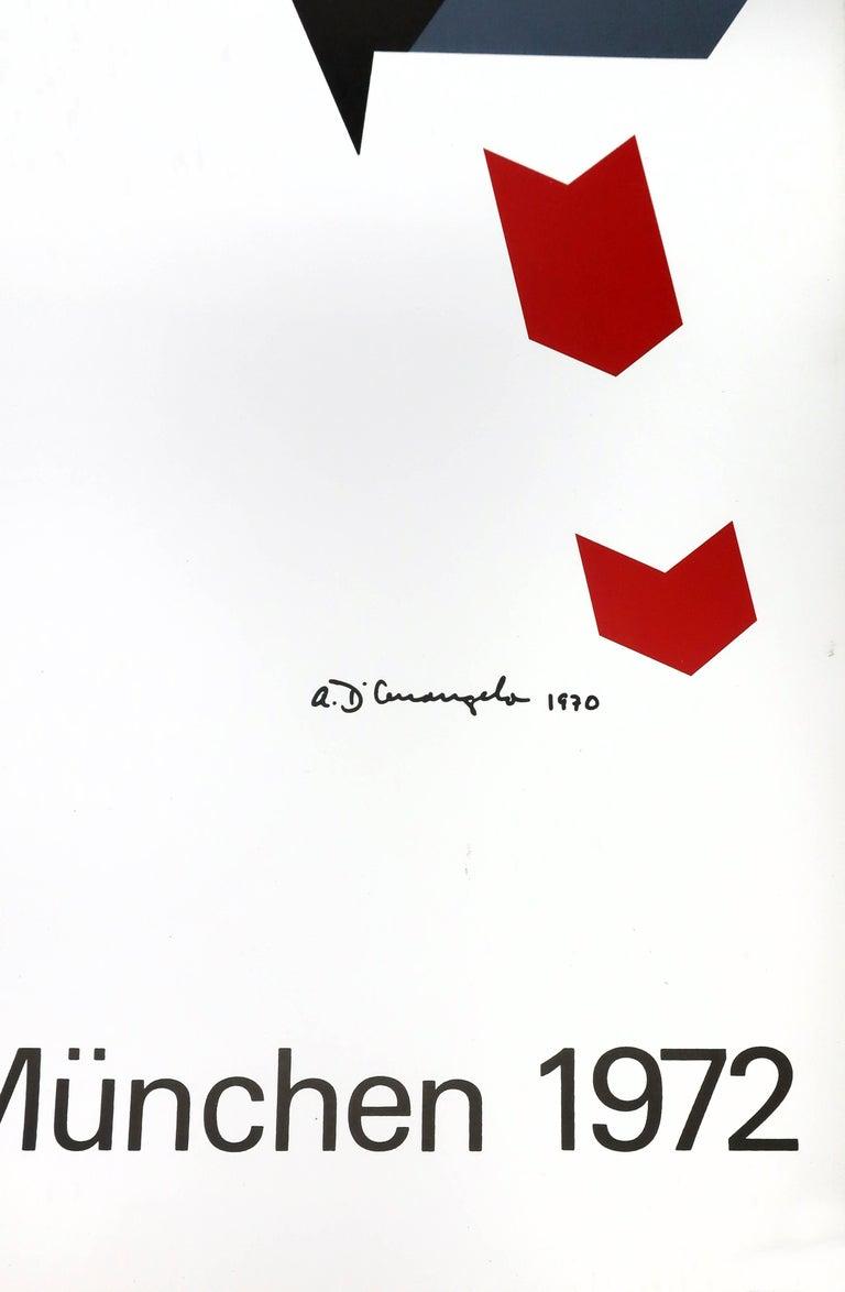 Mid-Century Modern Allan D'Arcangelo Olympics Munich 1972 Poster For Sale