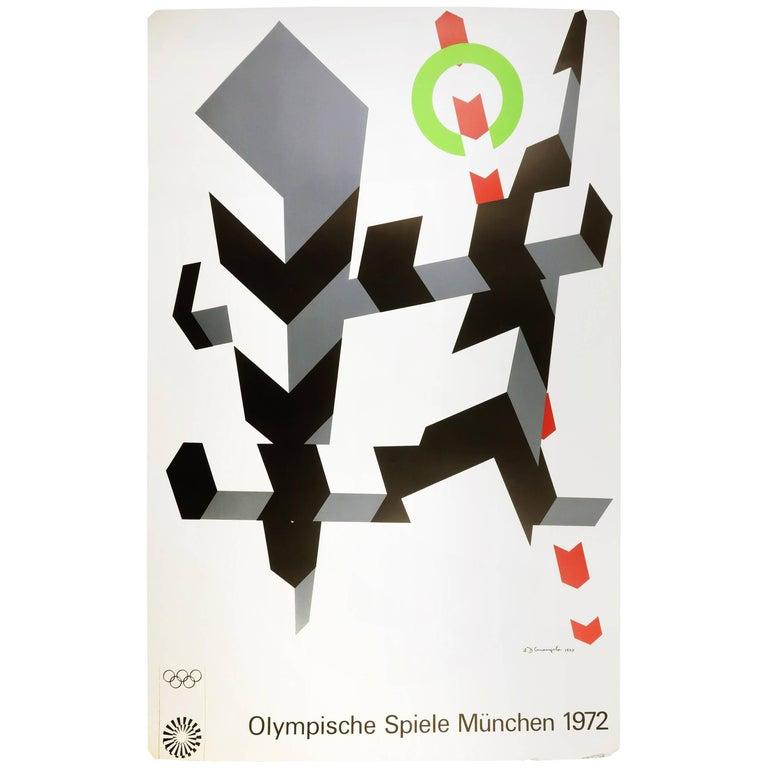 Allan D'Arcangelo Olympics Munich 1972 Poster For Sale