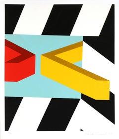 Caves, Pop Geometric Silkscreen by Alan D'Arcangelo