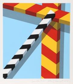Descent from the Cross, Pop Geometric Silkscreen by Alan D'Arcangelo