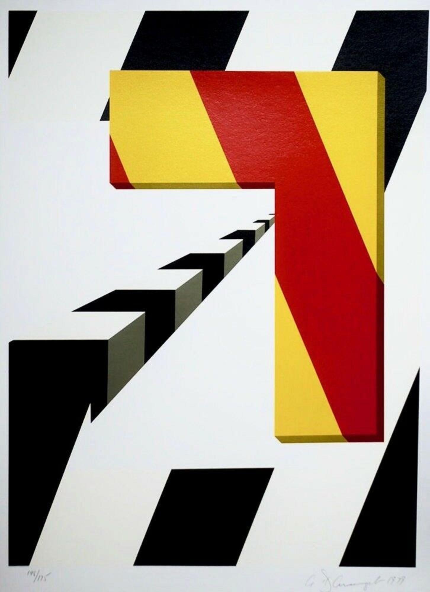Left Turn, Limited Edition Silkscreen, Allan D'Arcangelo