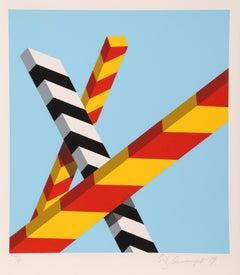 Sky Bars, Pop Geometric Silkscreen by Alan D'Arcangelo