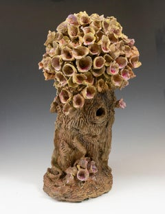 """""""Floral Form"""", pink and tan textured ceramic, embodies the essence of clay"""