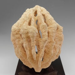 """""""Light"""" Essence, pale apricot colored, textured ceramic, embodies essential clay"""