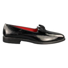 ALLAN EDMONDS Ritz Size 10.5 Black Patent Leather Tuxedo Loafers