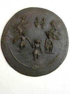 Southwest Dance Shield relief bronze Apache Pueblo Contemporary Native art