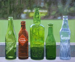 Antique Bottles IV, Painting, Oil on Canvas
