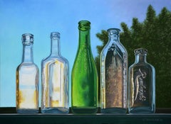 Antique Bottles V, Painting, Oil on Canvas