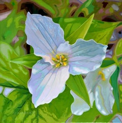 Lakeview Road Trillium, Painting, Oil on Canvas