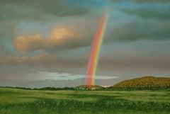 Maxwell Settlement Rainbow, Painting, Oil on Canvas