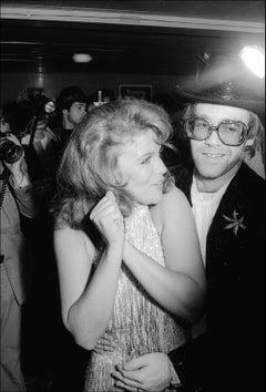 Elton John & Ann Margret Dance  -  Fine Art Limited Edition Black & White Print