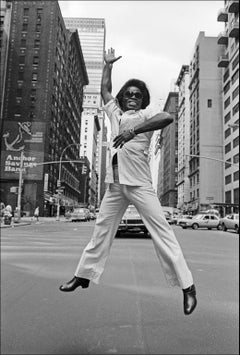 James Brown Jumps on Broadway - Archival Fine Art Black and White Print