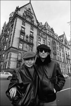 John Lennon and Yoko Ono at the Dakota - Archival Fine Art Black and White Print