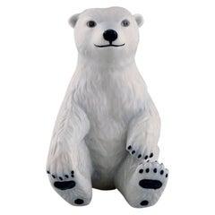 Allan Therkelsen for Royal Copenhagen, Rare Porcelain Figurine, Polar Bear