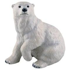 Allan Therkelsen, Royal Copenhagen, Rare porcelain figurine, Polar bear