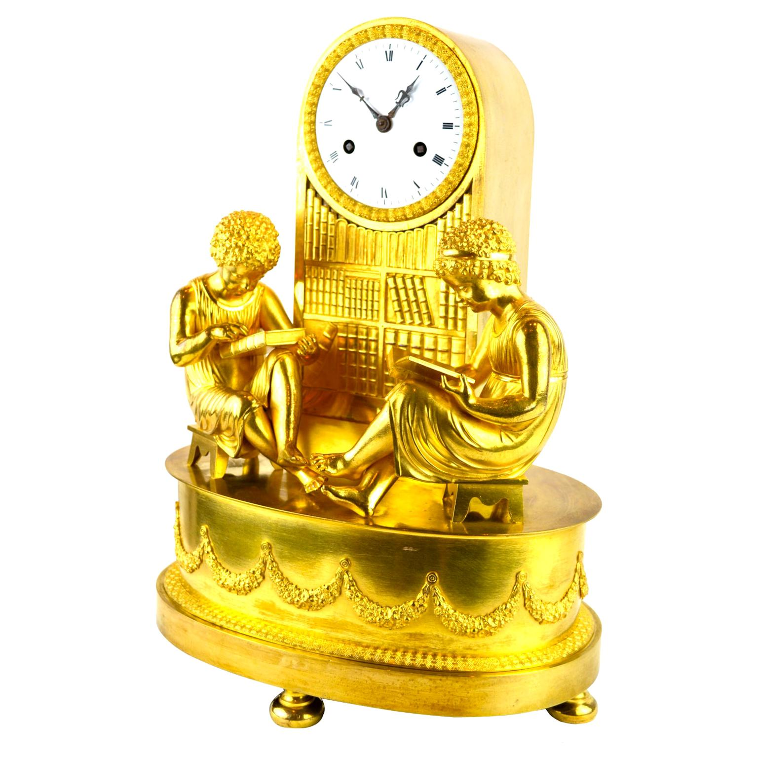 "Allegorical French Empire Clock Referred to as ""The Library Clock"""