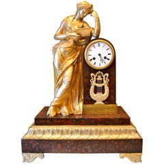 Allegorical French Louis Philippe Clock of Clio the Greek Muse of History