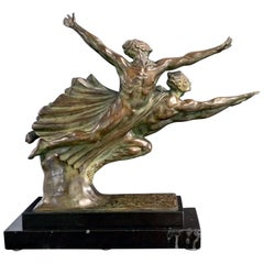 """Allegory of Speed,"" Art Deco Bronze Depicting the Ecstasy of Athletic Effort"