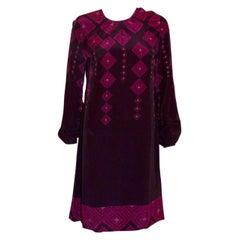 Allegra Hicks Limited Range Purple Silk Dress