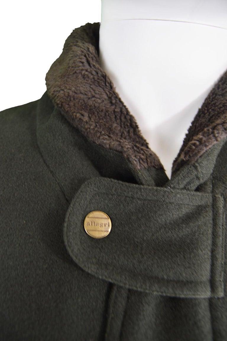 da102ec0f Allegri Men's Italian Wool & Cashmere Dark Green Vintage Bomber Jacket