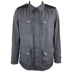 ALLEGRI Size XL Navy Hidden Zip Snap Pocket Rain Jacket
