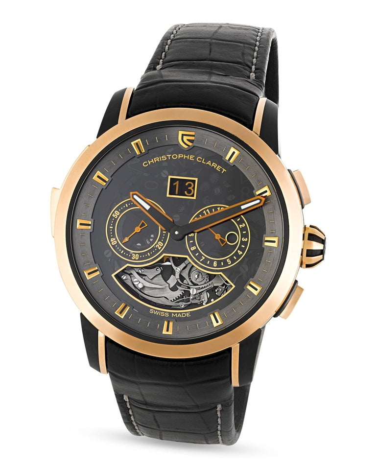 This limited edition wristwatch hails from Christophe Claret's Allegro collection. Its eye-catching manual movement boasts a minute repeater, one of the most sought-after complications in the world of luxury wristwatches. As its name would suggest,