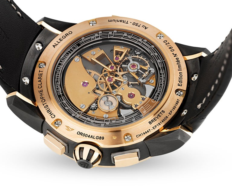 Men's Allegro Limited Edition Watch by Christophe Claret For Sale