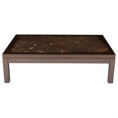 Allemeersch Coffee Table with Fossil Inlay, 1970s