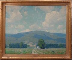 American Impressionist Artist Allen Dean Cochran Oil Painting Summer Catskills