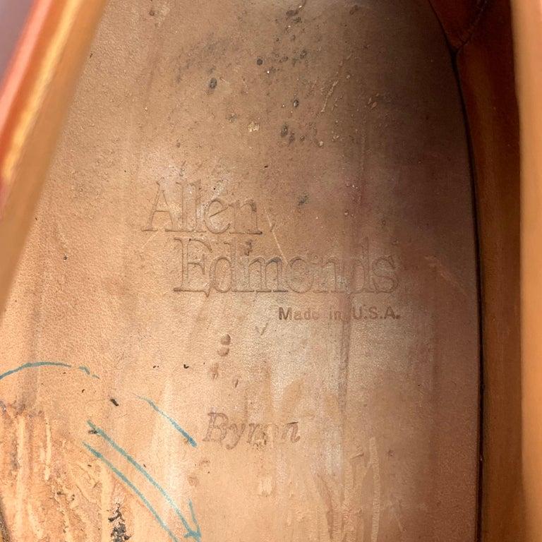 ALLEN EDMONDS Byron Size 15 Brown Leather Cap Toe Lace Up Shoes For Sale 3