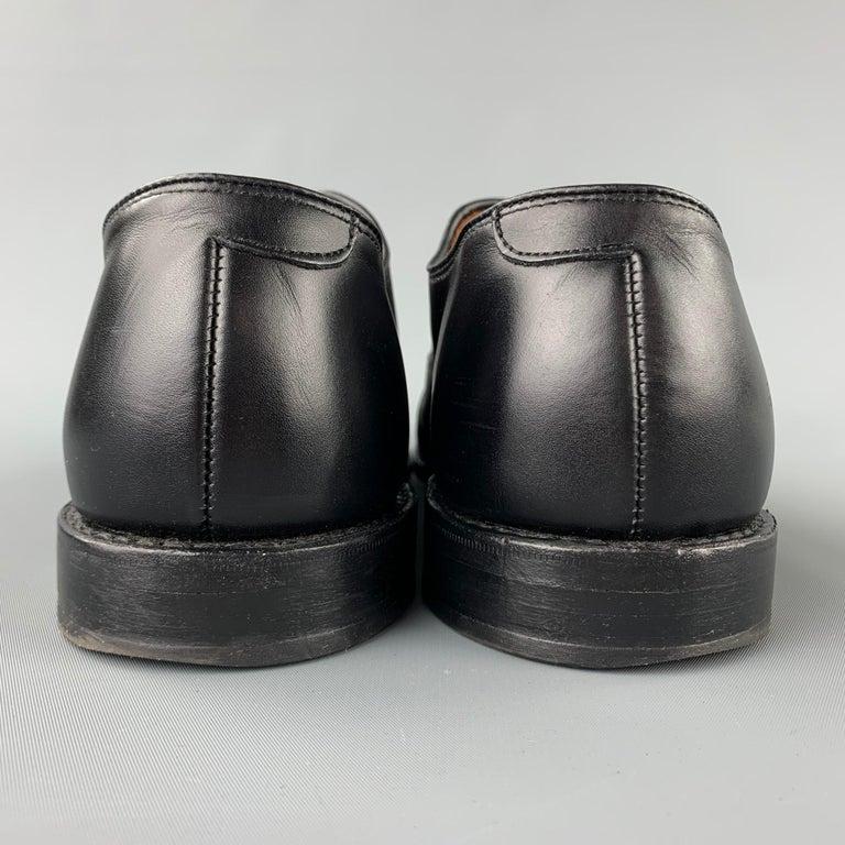 ALLEN EDMONDS Park Avenue Size 11.5 Black Leather Cap Toe Lace Up Shoes 1