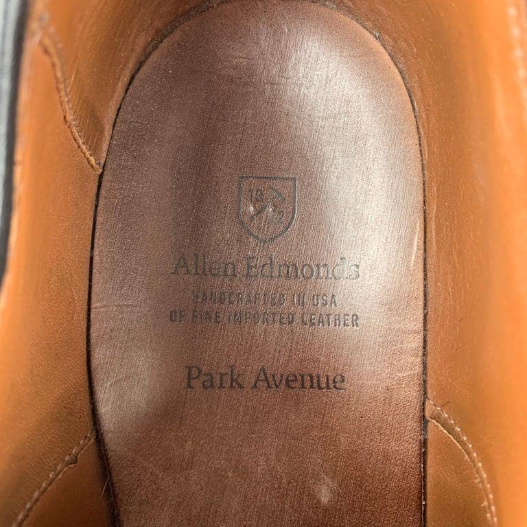 ALLEN EDMONDS Park Avenue Size 11.5 Black Leather Cap Toe Lace Up Shoes 2