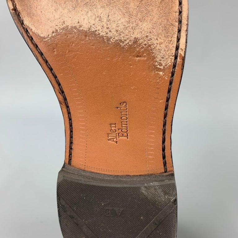 ALLEN EDMONDS Park Avenue Size 11.5 Black Leather Cap Toe Lace Up Shoes 4