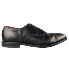 ALLEN EDMONDS Park Avenue Size 11.5 Black Leather Cap Toe Lace Up Shoes
