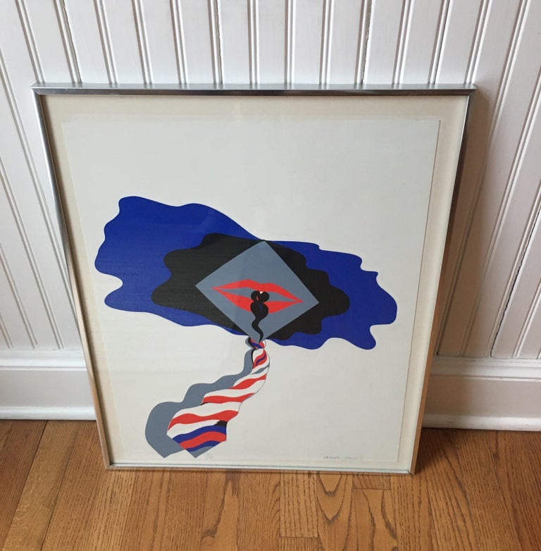 "A hand signed and numbered serigraph by Allen Jones in original frame. ""Self""."