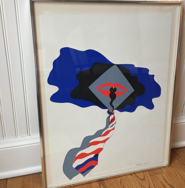 "Paper Allen Jones Handed Signed and Numbered Serigraph ""Self"" For Sale"