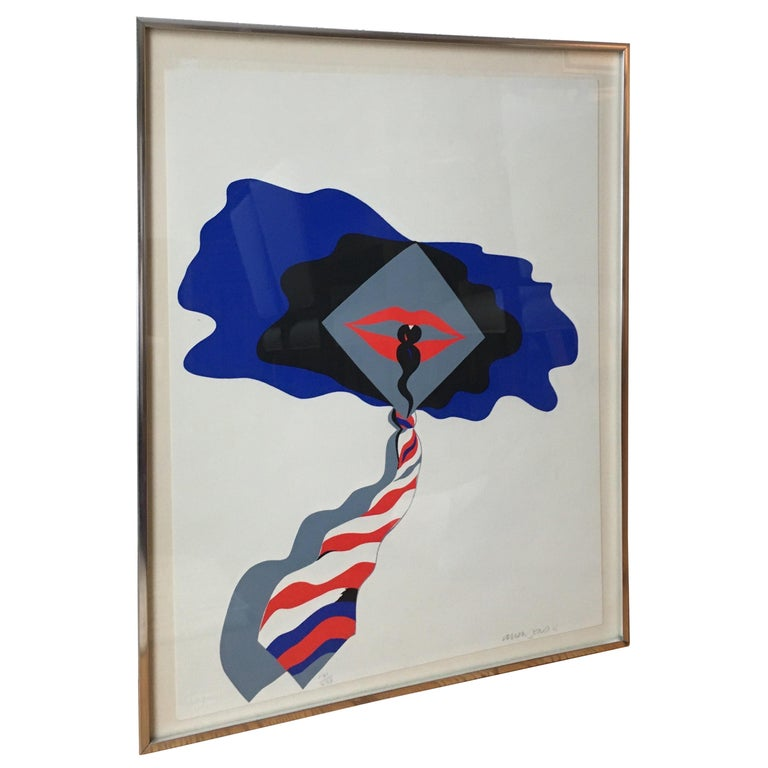 "Allen Jones Handed Signed and Numbered Serigraph ""Self"" For Sale"