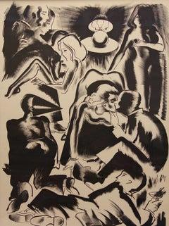"Allen Jones 1984 ""High Society"" Lithograph 43/45"